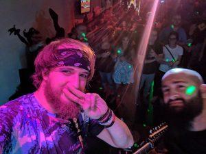 lol on stage selfie